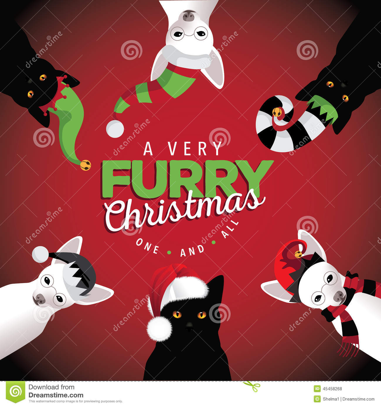 very furry christmas dogs and cats - Christmas Furry