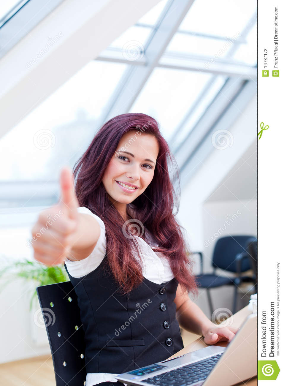 Very Good Job Stock Photo Image Of Clerical Place Hair