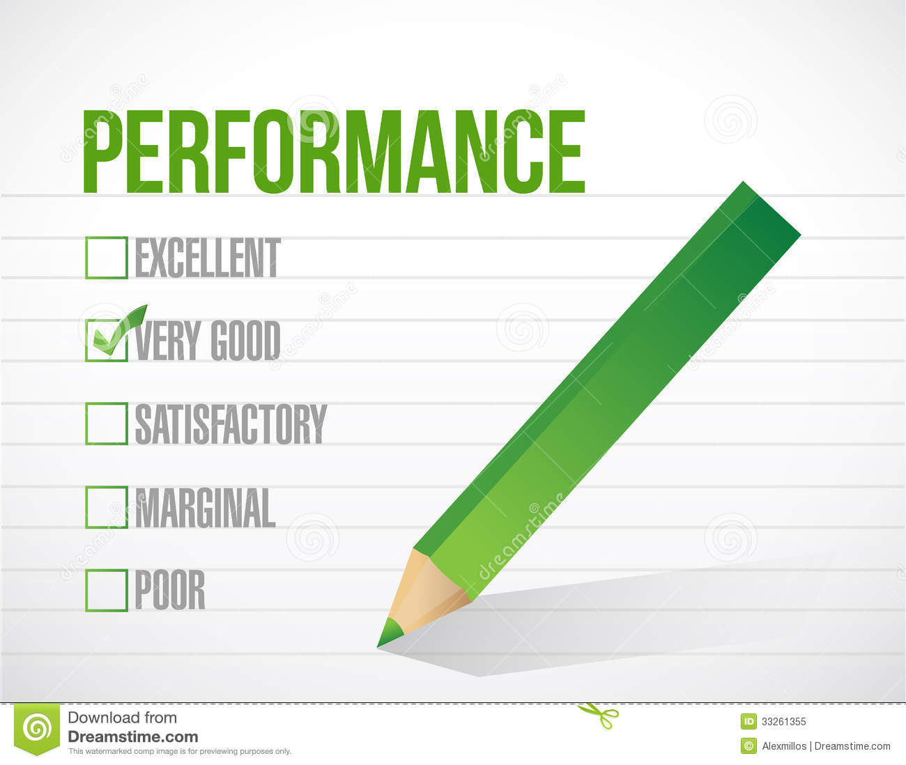 very good performance review illustration stock