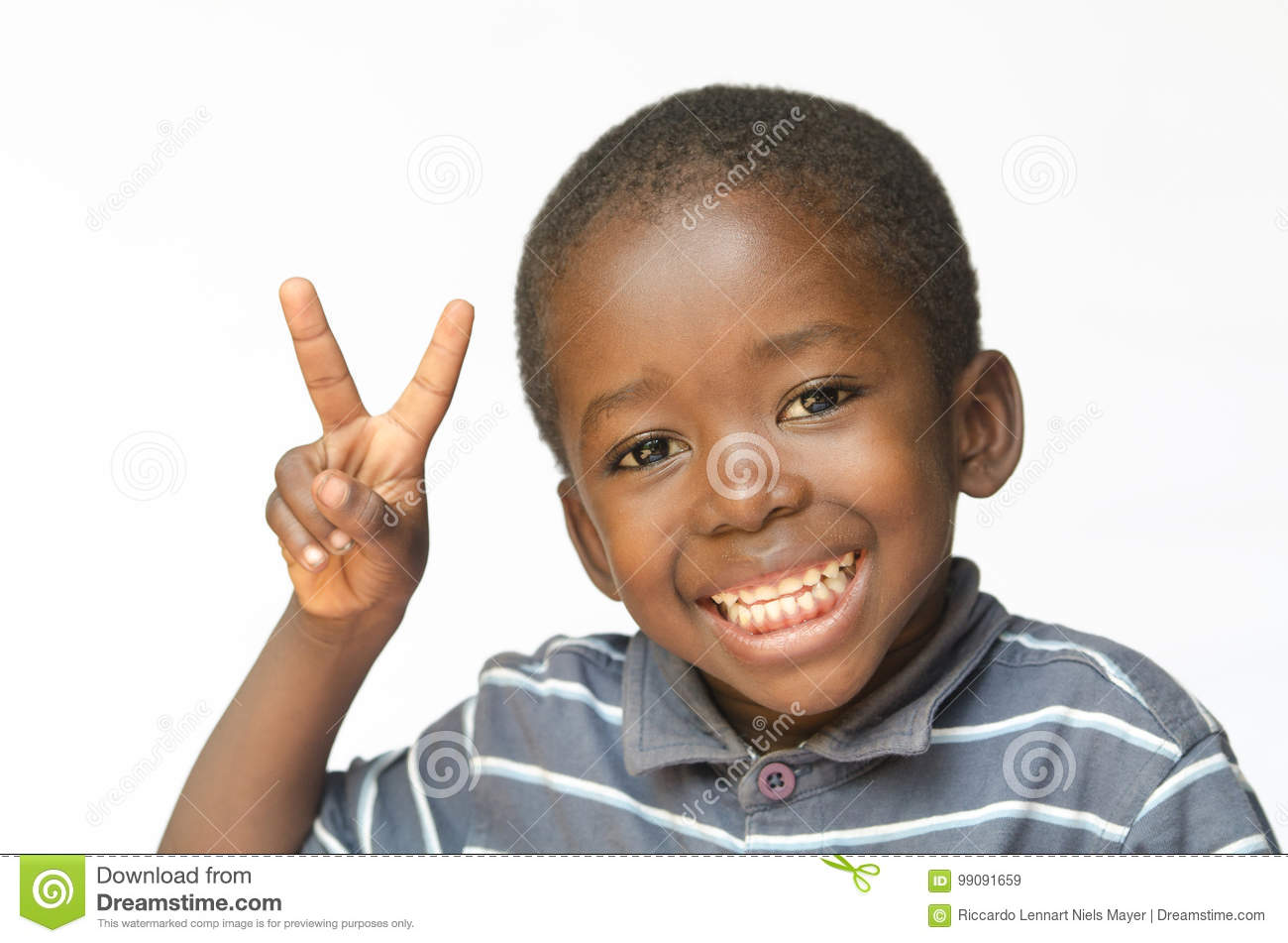 Very happy African black boy making peace sign for Africa african ethnicity huge smile peace for the world