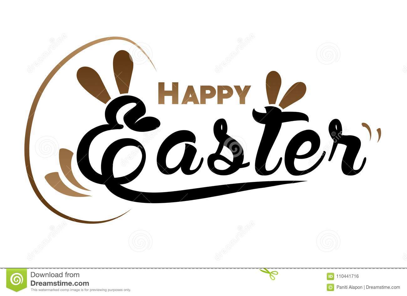 Very Happy Easter,bunny and egg with color background.