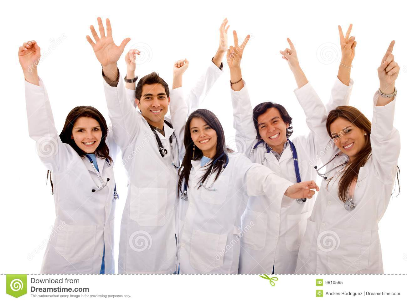 Very Happy Group Of Doctors Stock Image Image Of