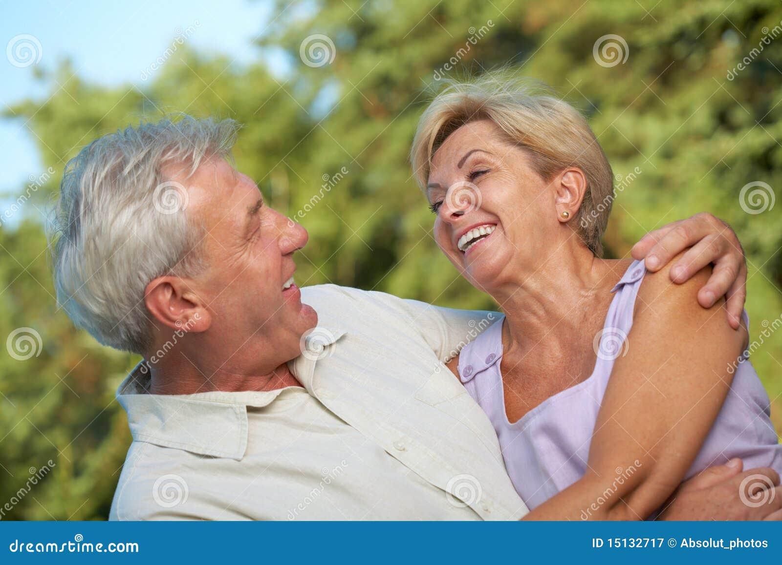 Very happy mature couple