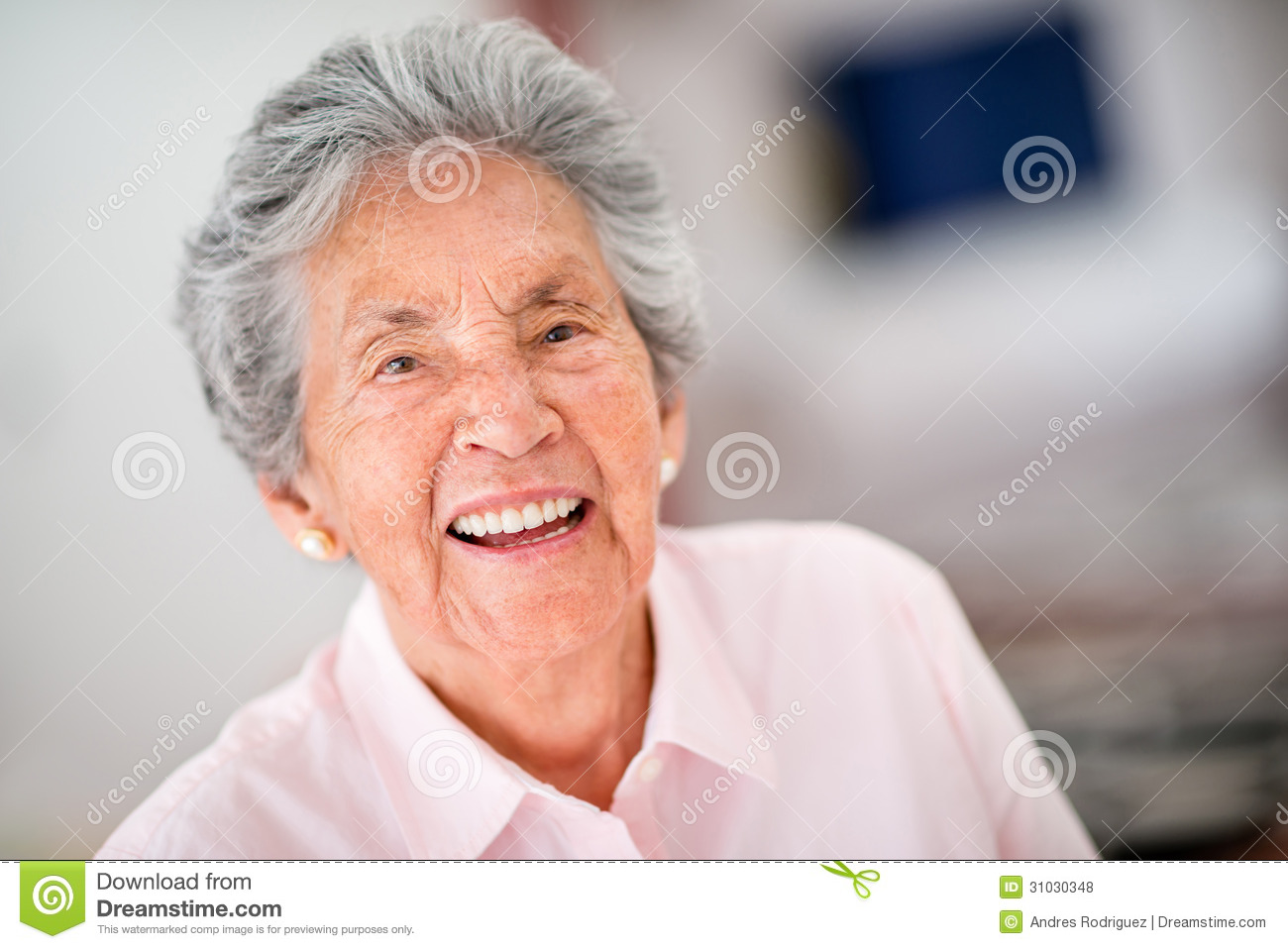 Very Happy Senior Woman Stock Photo Image Of Content