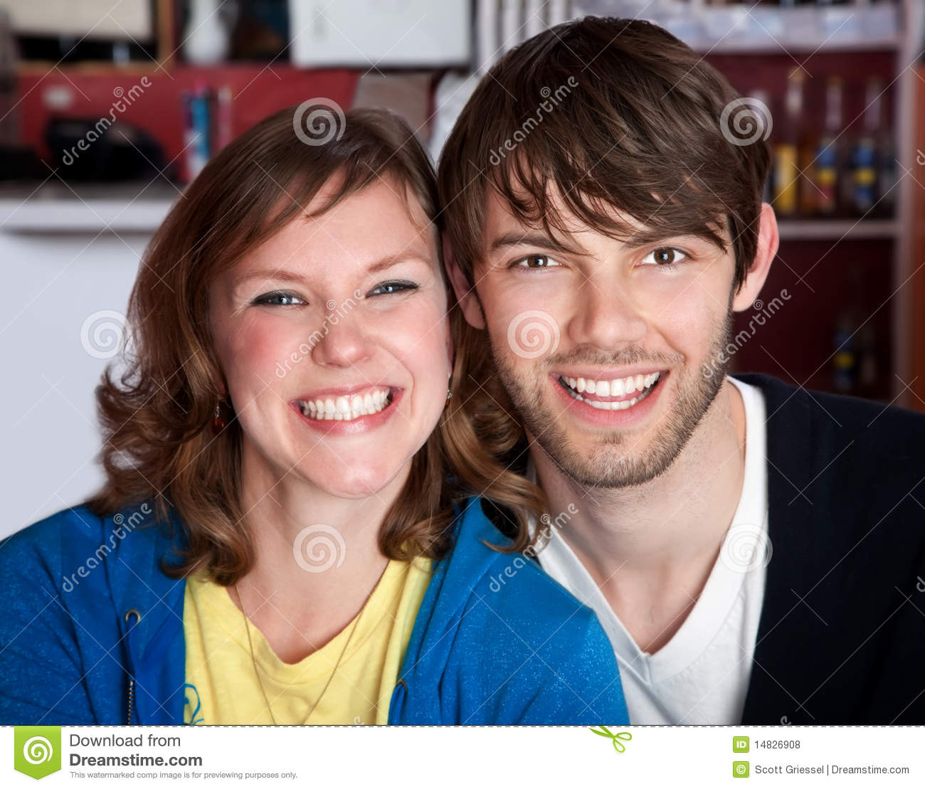 A Very Happy Young Hipster Couple Stock Photo
