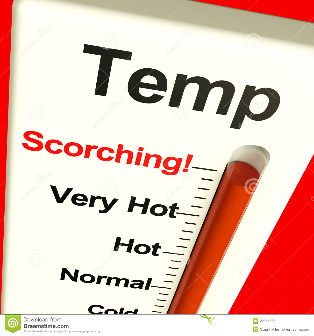 Very High Scorching Temperature Royalty Free Stock Photo - Image ...