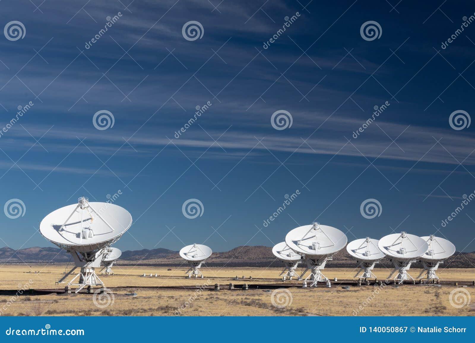 Very Large Array radiowej astronomii obserwatorscy naczynia w Nowym - Mexico pustynia, eksploracja przestrzeni kosmicznej, nauki