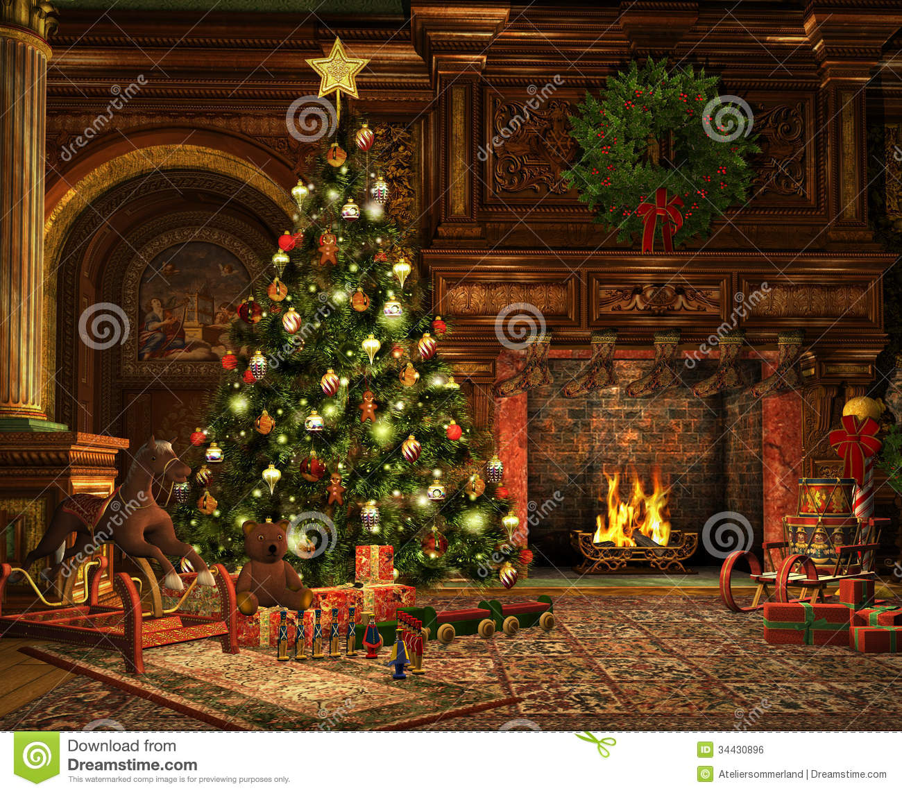 A Very Merry Christmas Royalty Free Stock Image Image