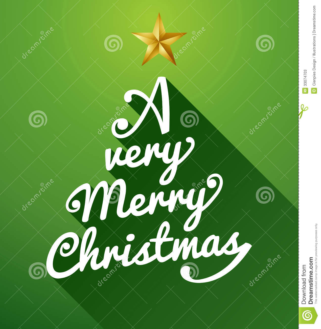 Very Merry Christmas.A Very Merry Christmas Tree Composition Stock Vector