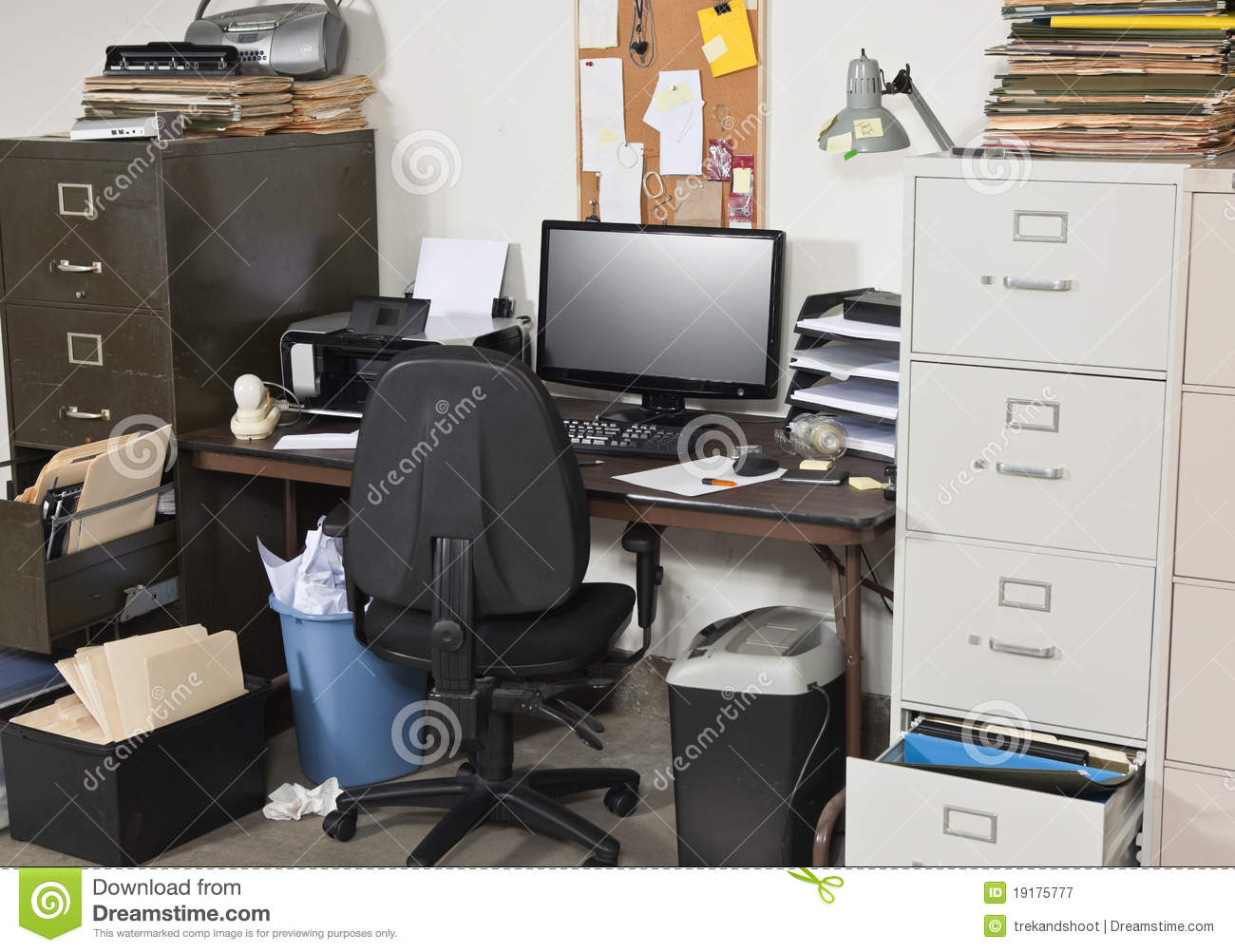 Very Messy Office Royalty Free Stock Photography Image