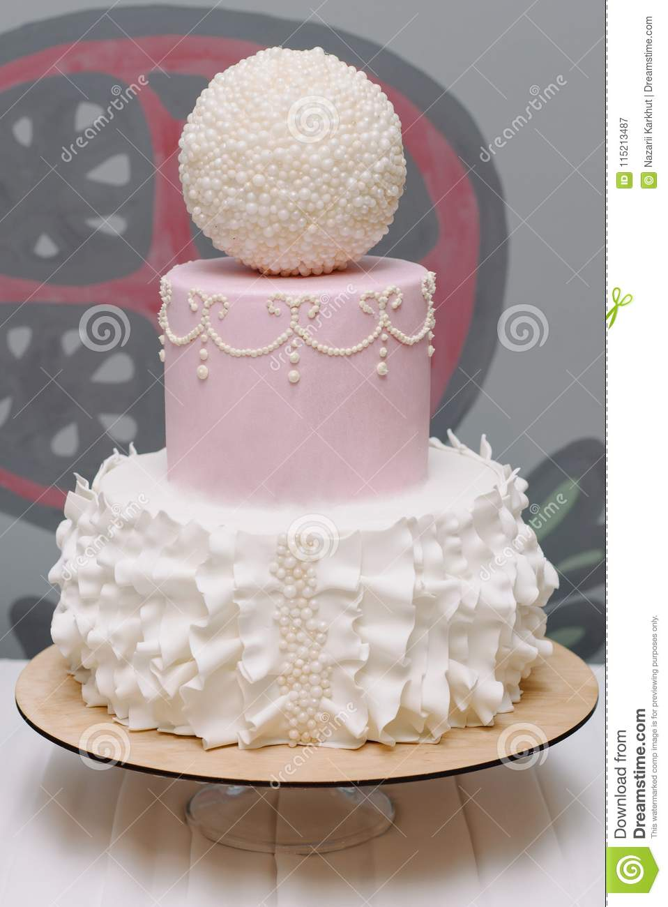 Peachy Very Nice Birthday Cake For Girl Stock Image Image Of Food Funny Birthday Cards Online Sheoxdamsfinfo