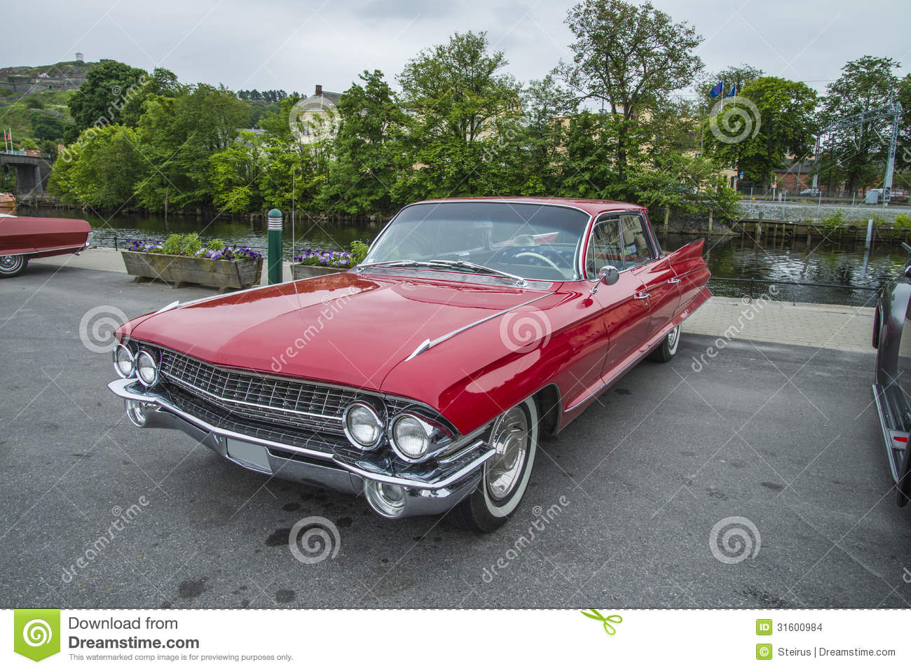 Very Nice 1961 Cadillac Deville Editorial Stock Image Of Sedan The Is Shot At A Fish Market In Halden Norway Where There Every Wednesday During Summer Months Are Held Classic American Car Show
