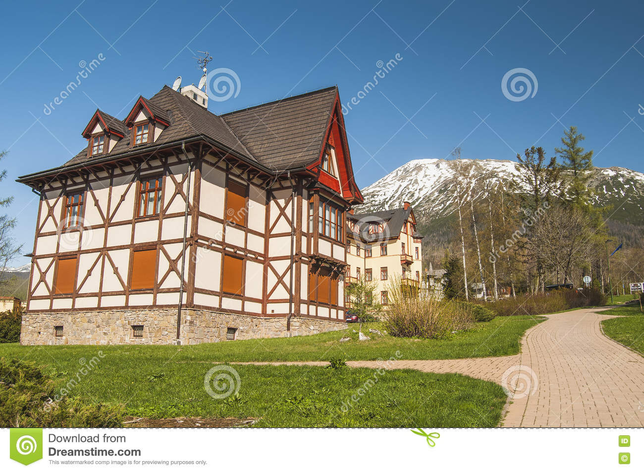Very nice house in the mountains stock photo image for Very nice mansions