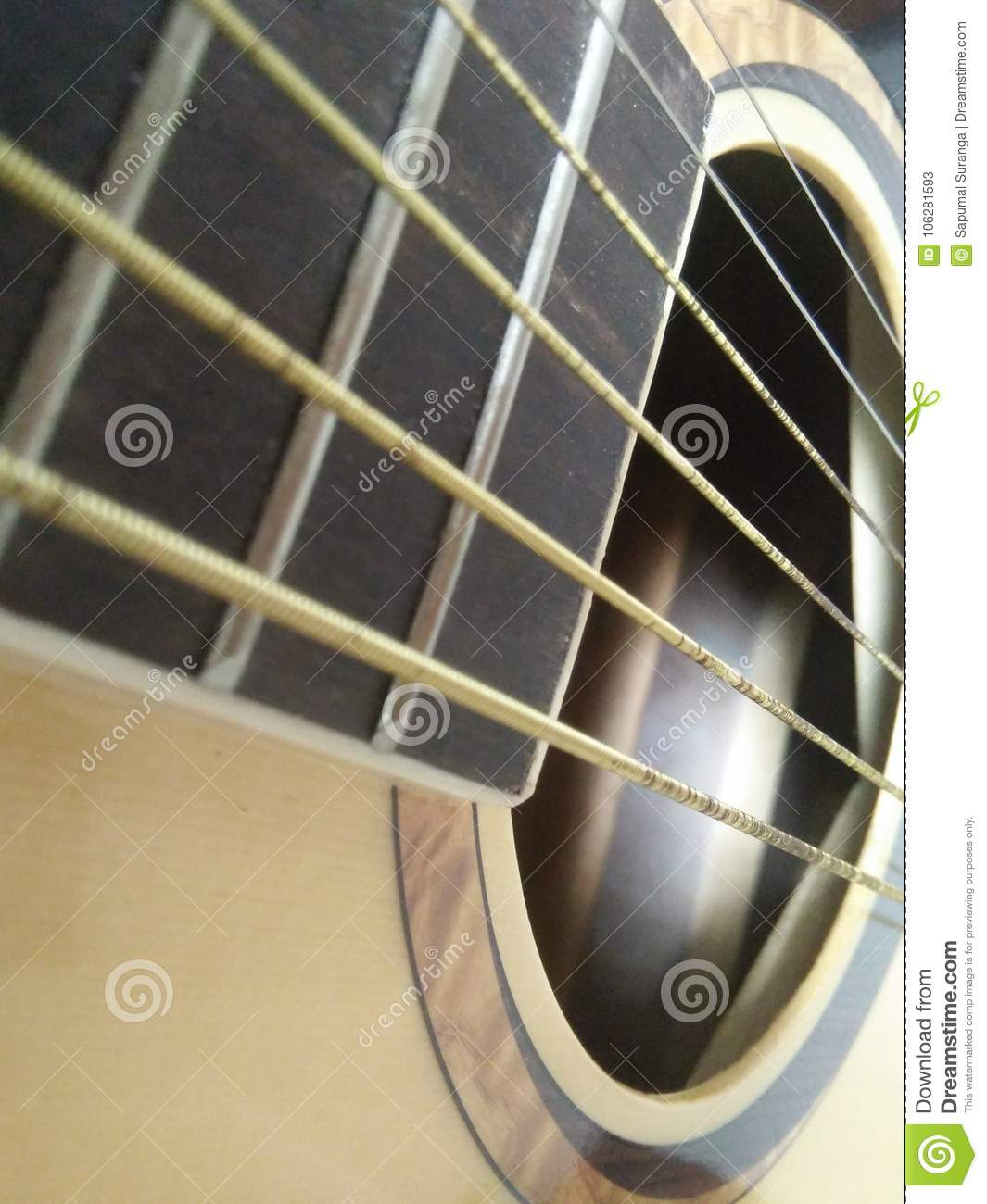 Box Guitar strings music stock image  Image of very - 106281593