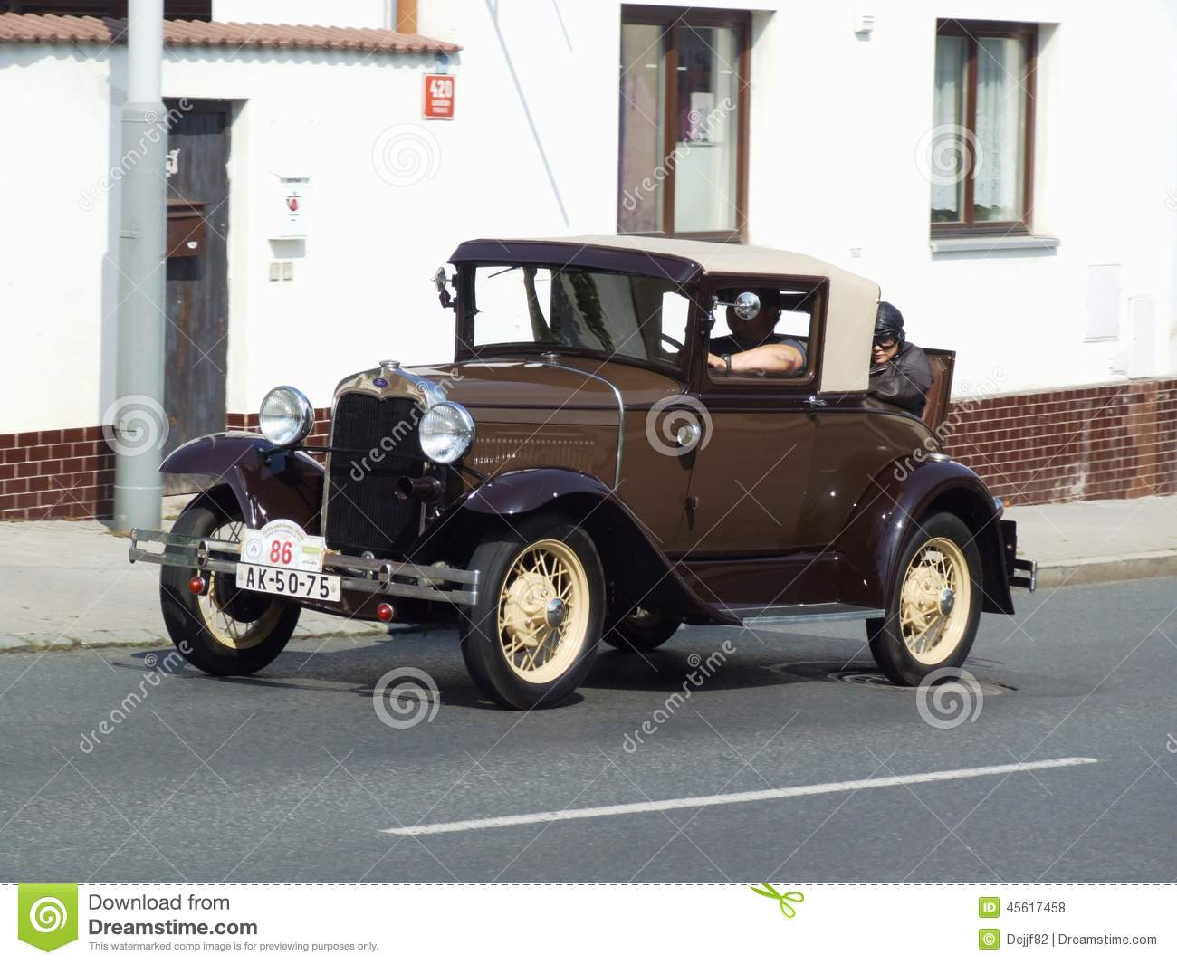 Very Old American Car Ford Editorial Stock Photo Image Of Coupe