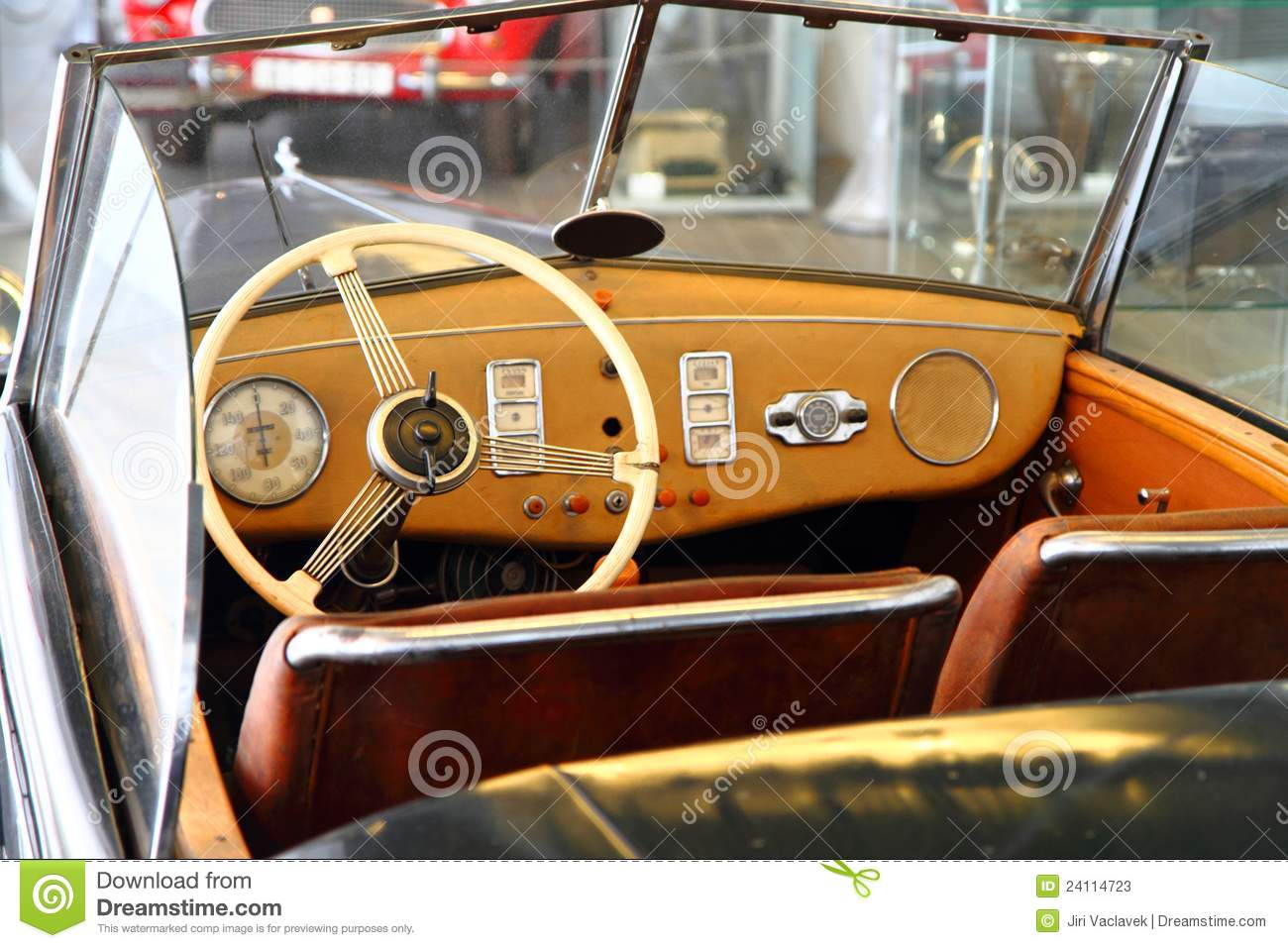 Very Old Car Interior Stock Image Image Of Luxury Cabriolet 24114723