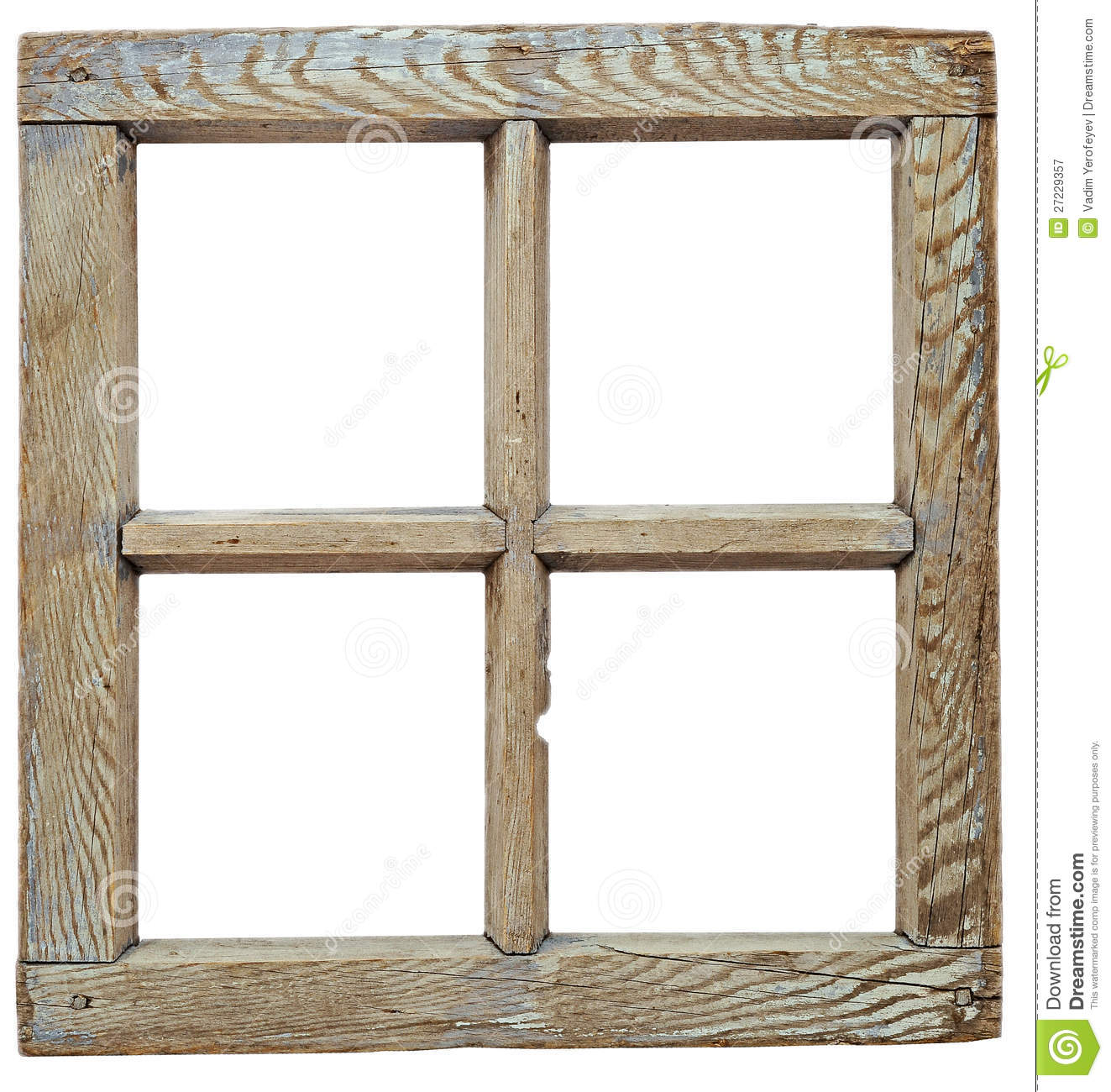 very old grunged wooden window stock image