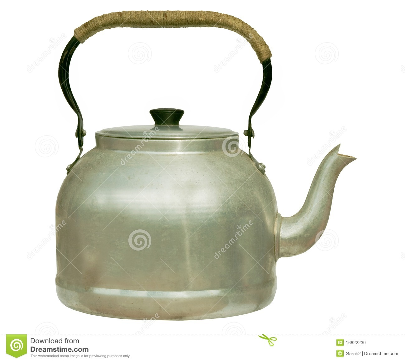 Very old kettle - isolated