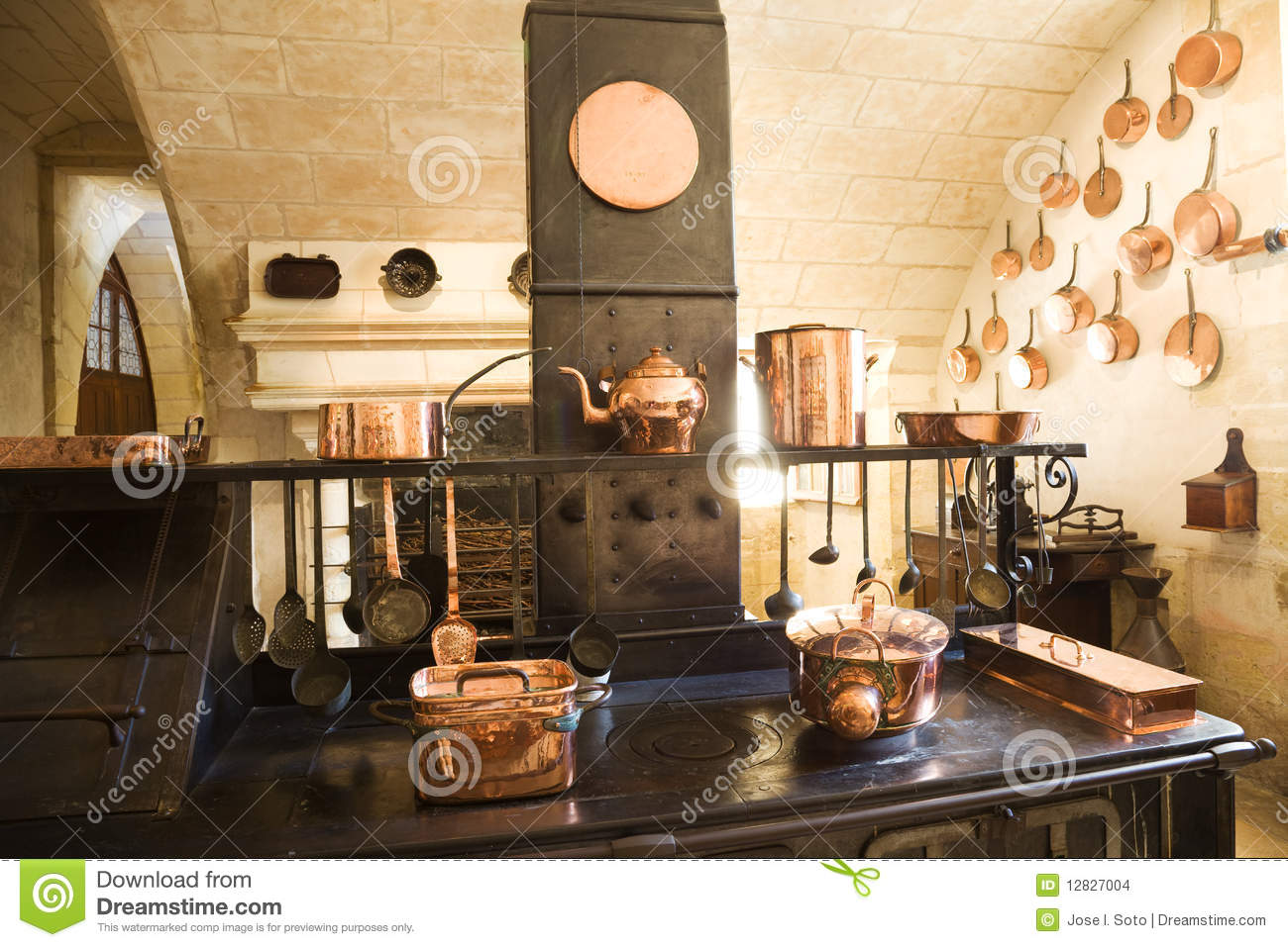 Old Kitchen Very Old Kitchen Stock Images Image 12827004