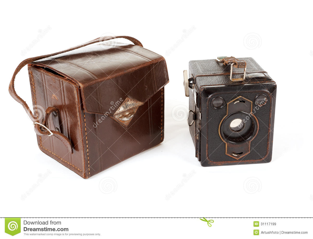 Very Old Vintage Camera On White Background Royalty Free Stock Images Image 31117199