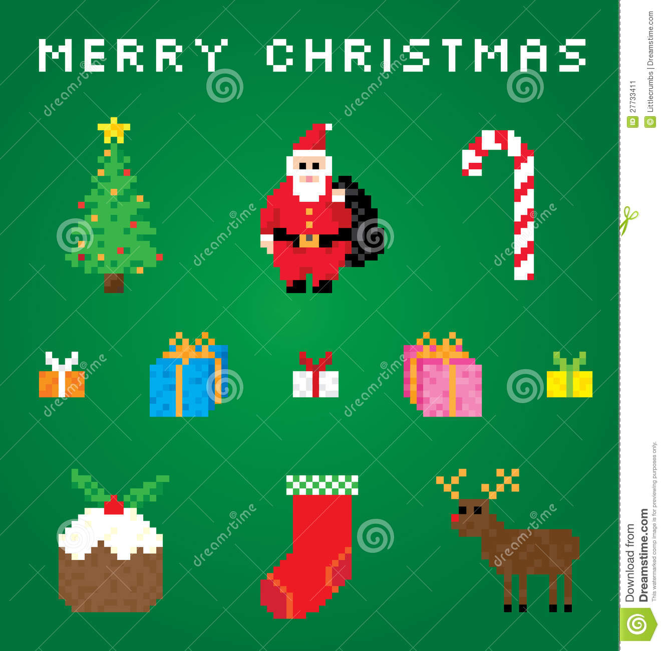 A Very Pixel Christmas Stock Image - Image: 27733411