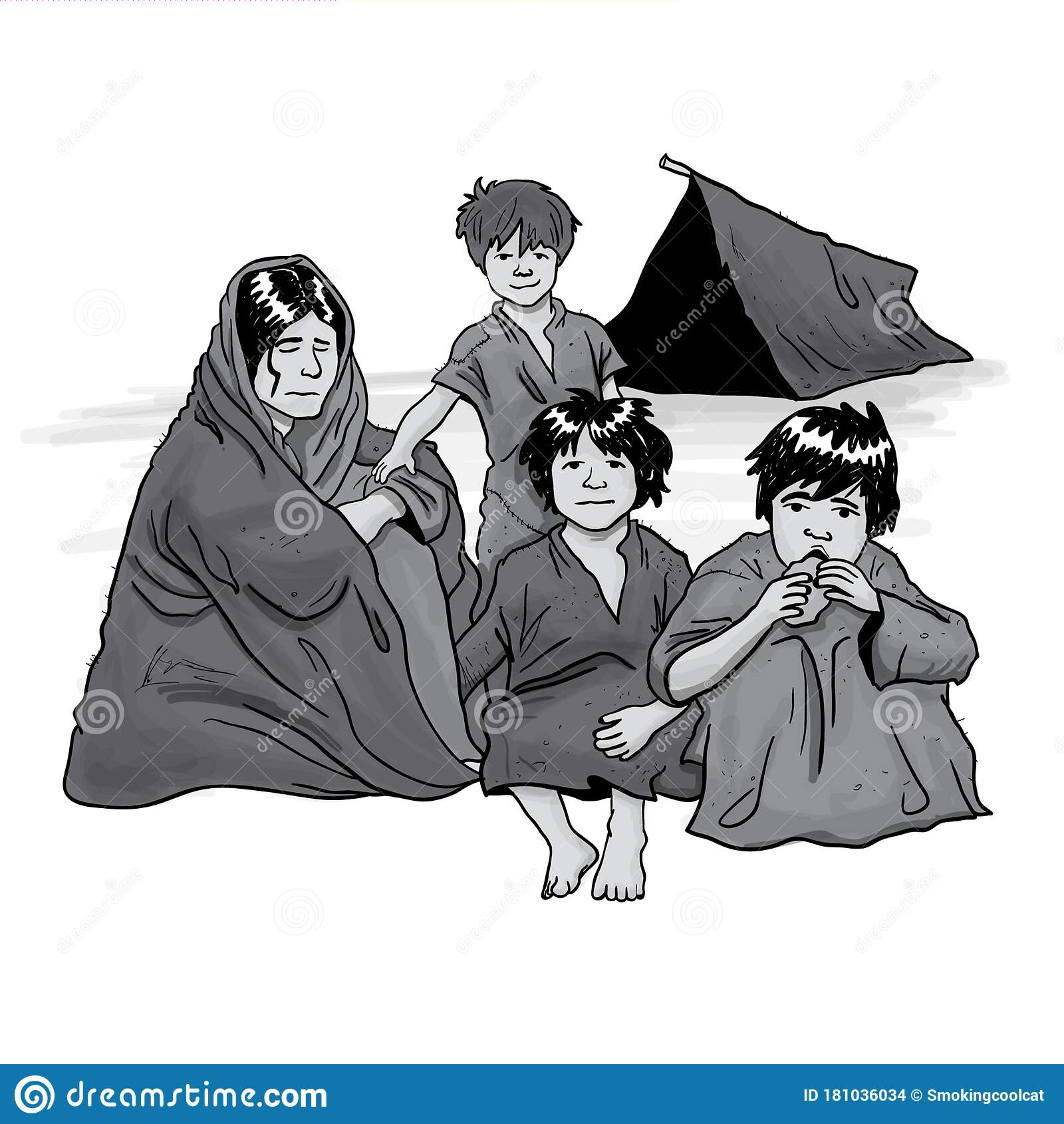 Family Poor Stock Illustrations 1 262 Family Poor Stock Illustrations Vectors Clipart Dreamstime