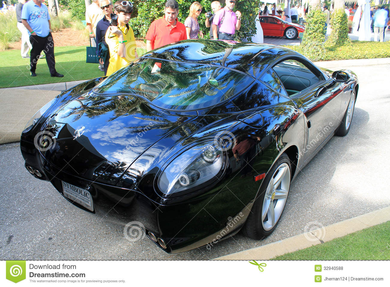 Very Rare Modern Ferrari Sports Car Rear Stock Photo 32940588 - Megapixl