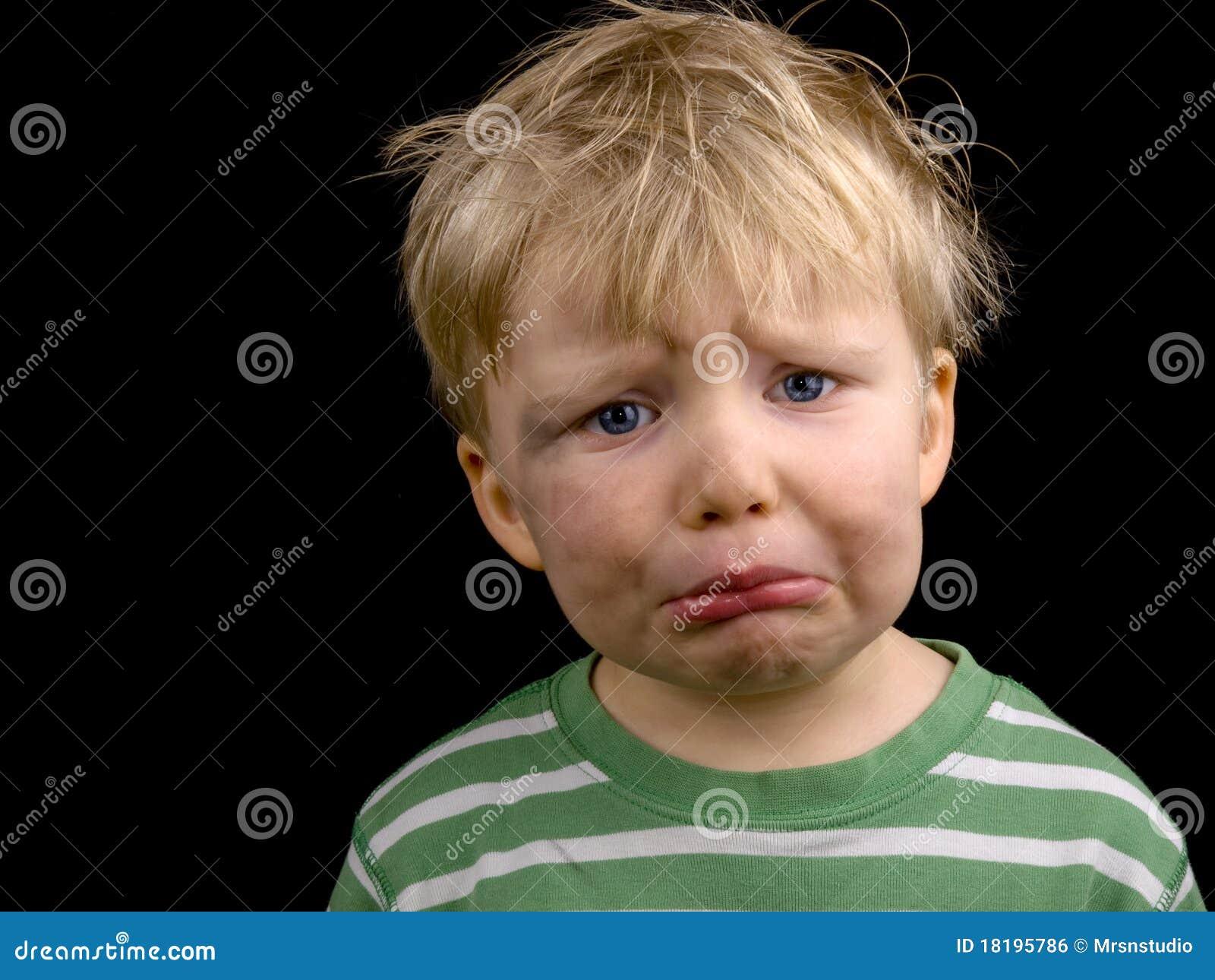 Very Sad Little Boy Stock Photo Image Of Unhappy Little
