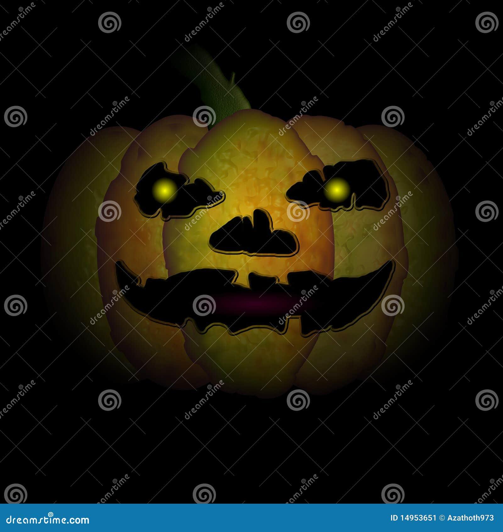 Very Scary Halloween Decorations: Very Scary Halloween Pumpkin Stock Illustration