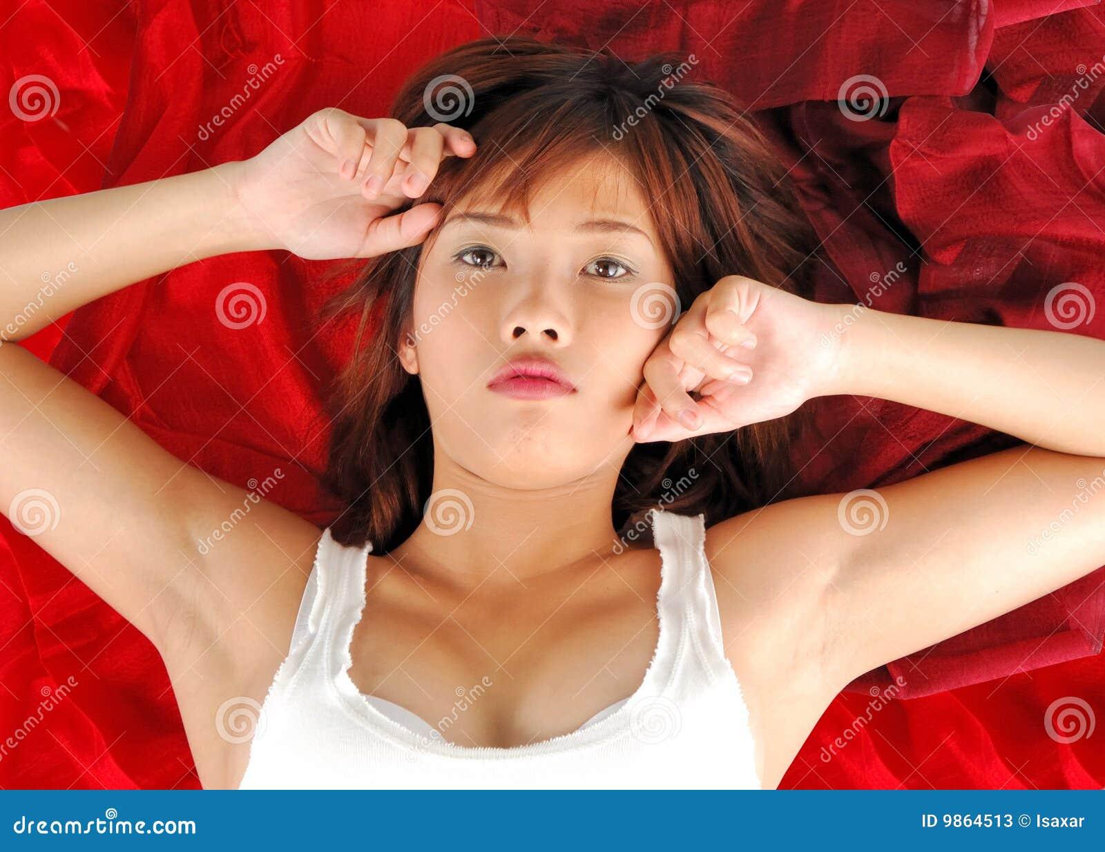 Very Seductive Young Asian Woman Stock Photos Image 9864513