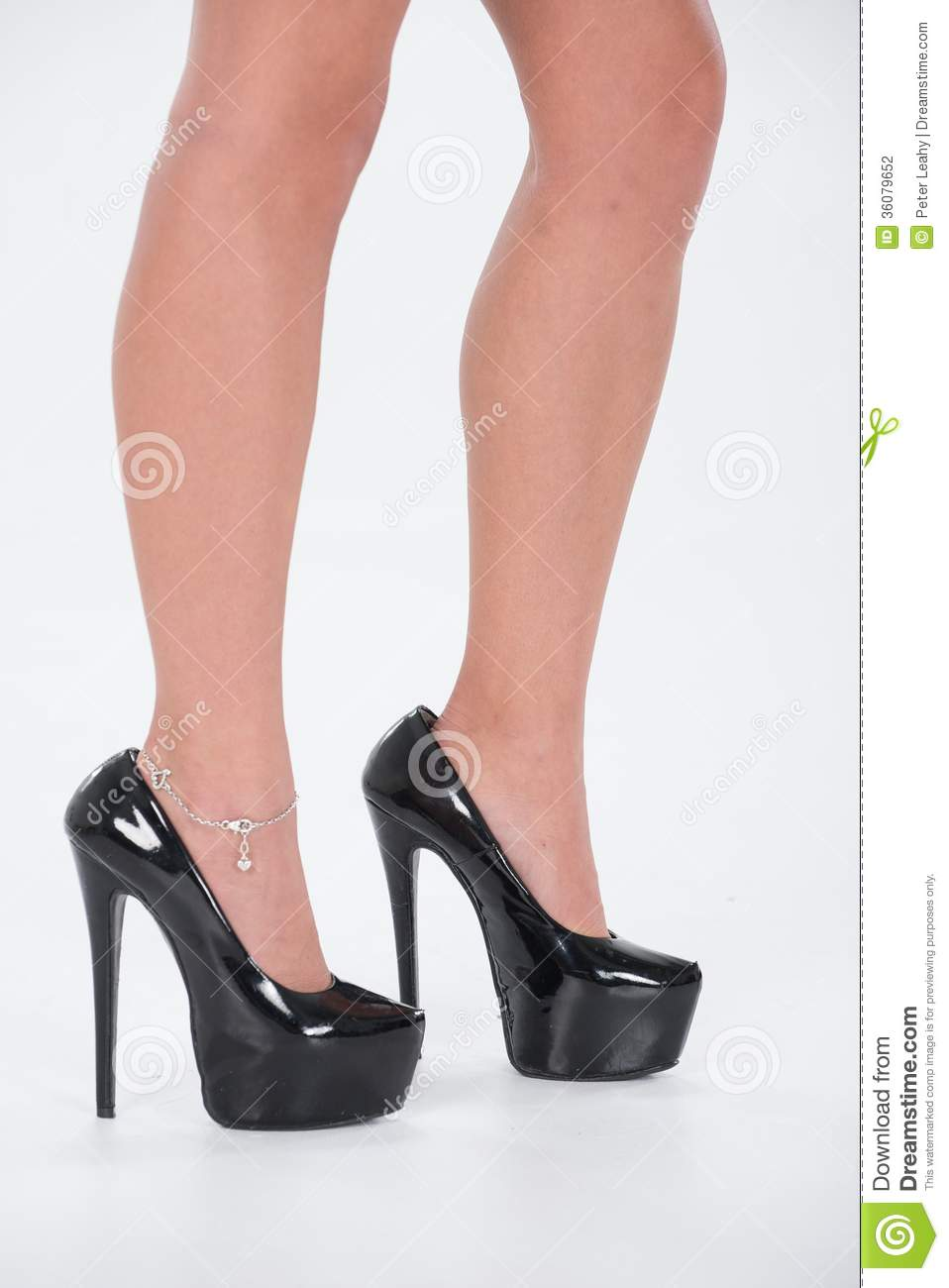 Very High Black Heels