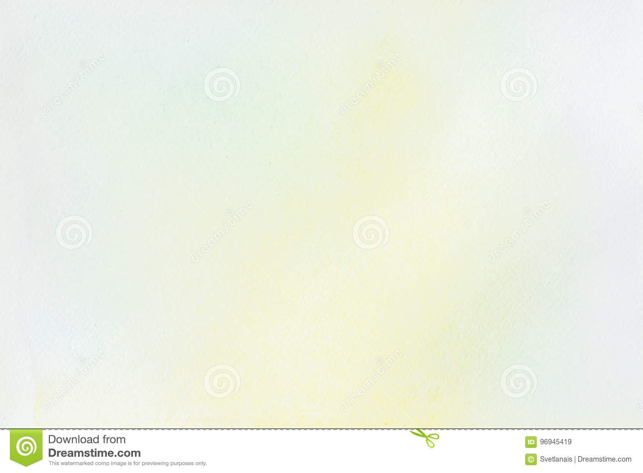 Download Very Soft Hand-drawn Watercolor Stain On White Of Water-color Paper. Abstract Image For Layout, Template, Banner Design Stock Image - Image of artistic, design: 96945419