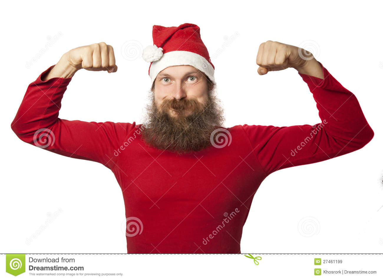 The very strong santa claus royalty free stock images