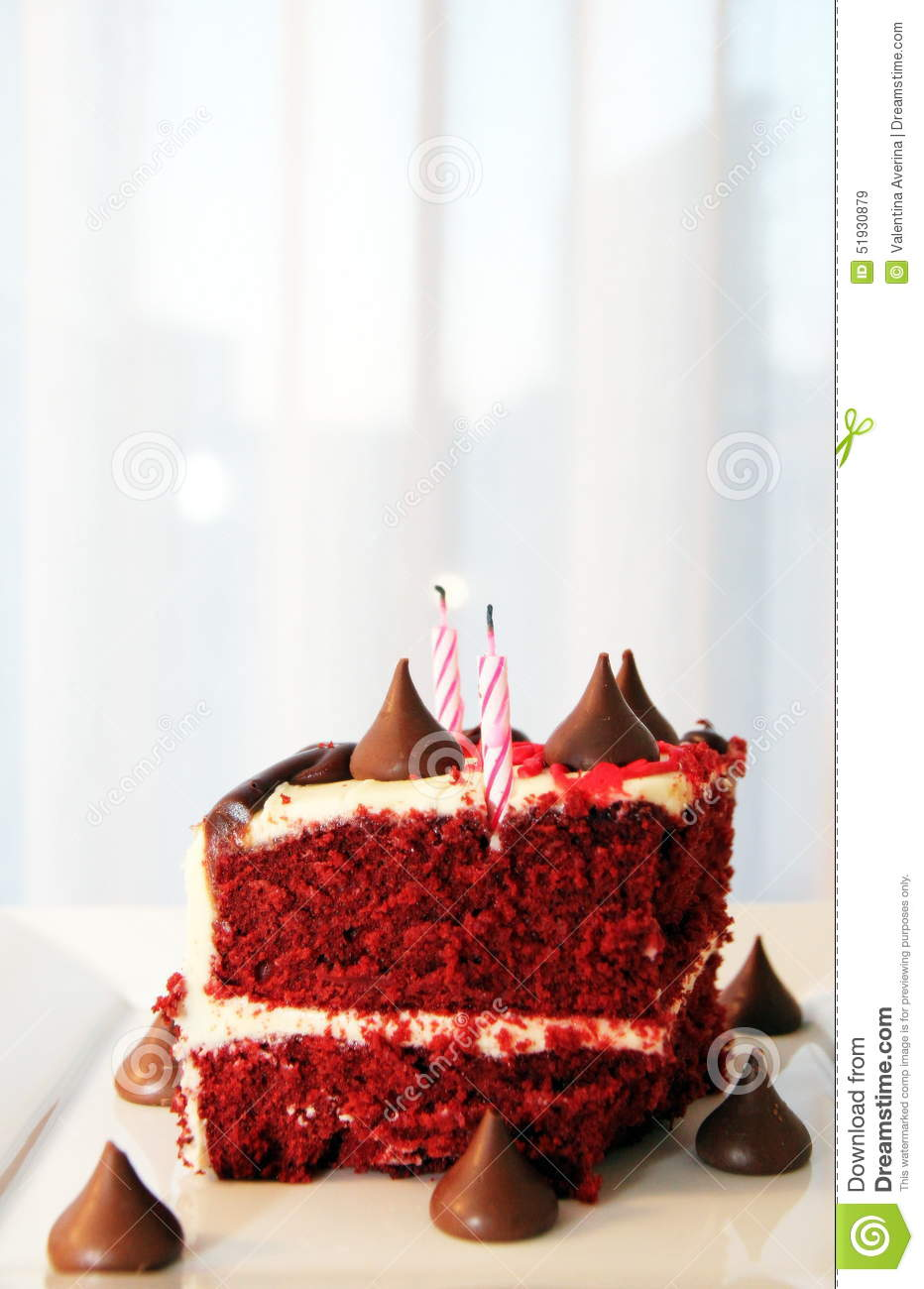 Very Tasty And Beautiful Cake With Candles Birthday Stock Image