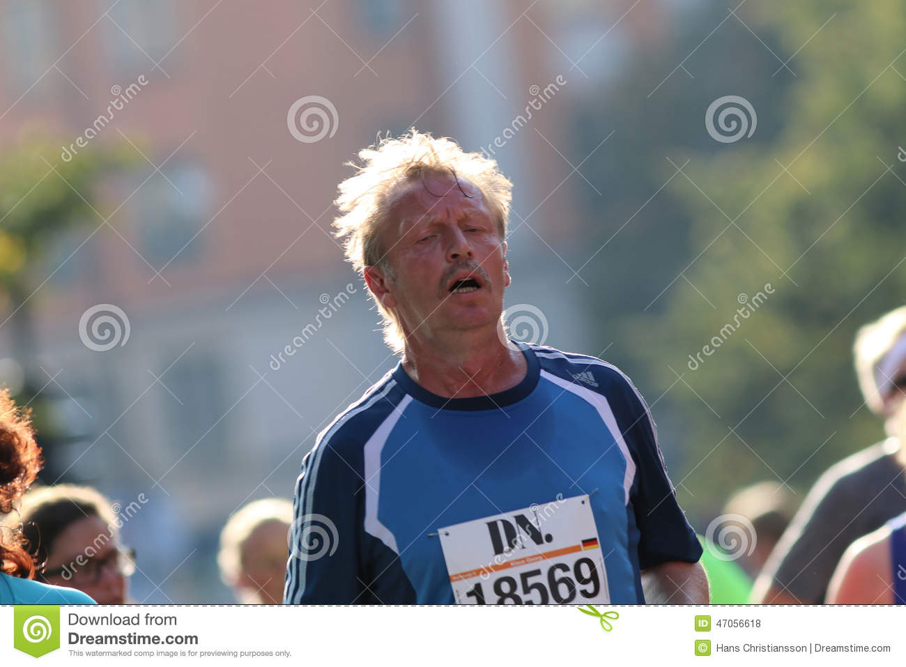 Very tired running man editorial stock photo  Image of amateaurs