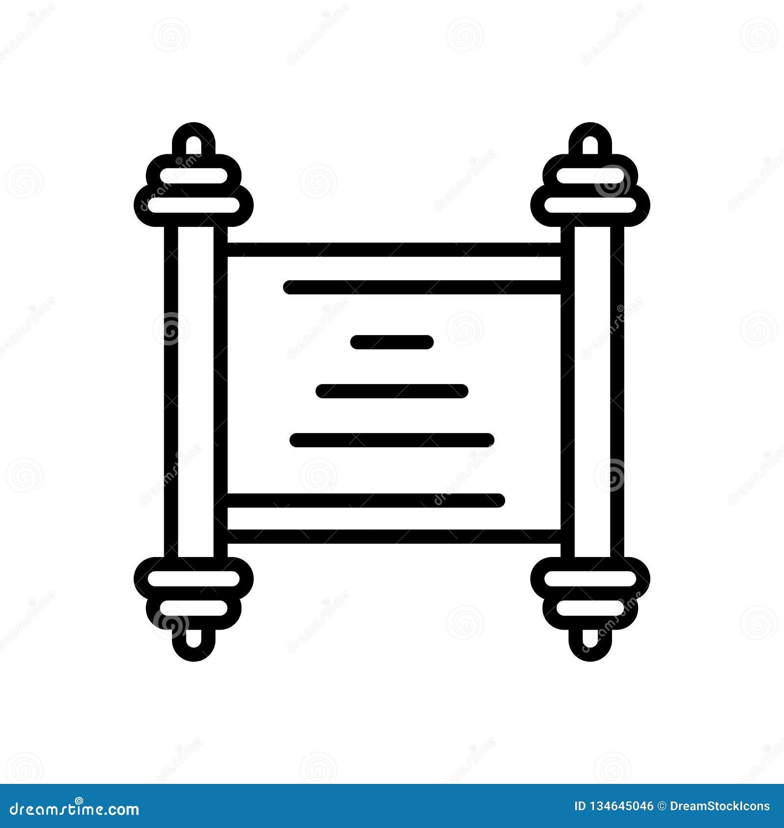 Verzeichnen Sie den Ikonenvektor in einer liste, der auf weißem Hintergrund, Rollenzeichen lokalisiert wird