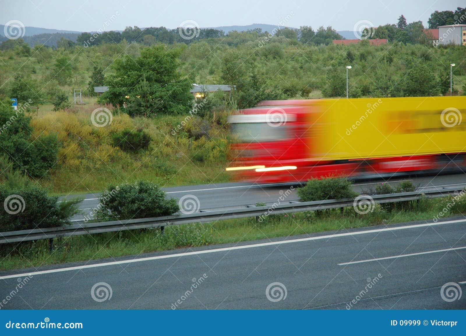 Verzendende vrachtwagen