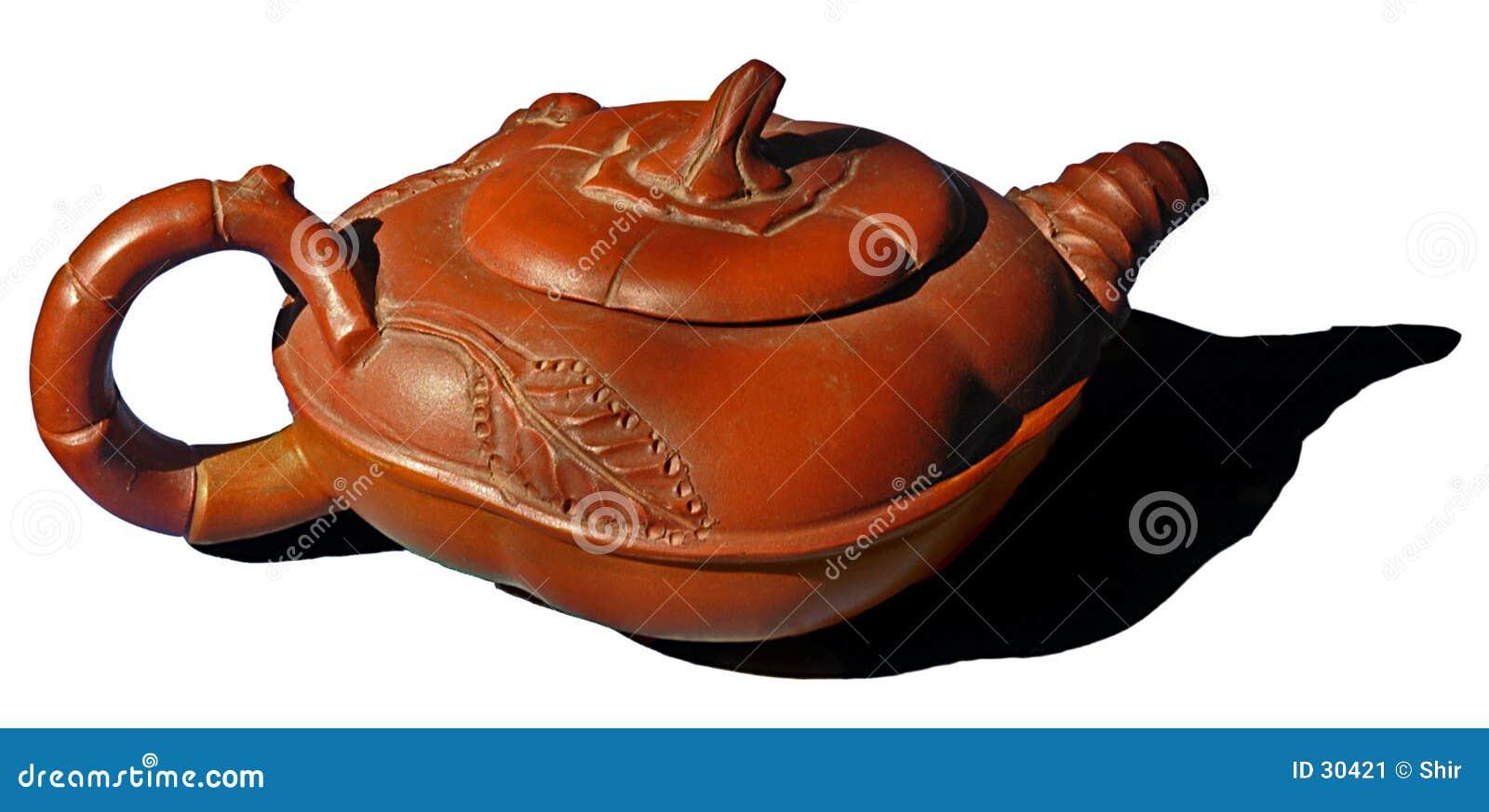 Download Verzierte Asiatische Teekanne Stockbild - Bild von braun, asien: 30421