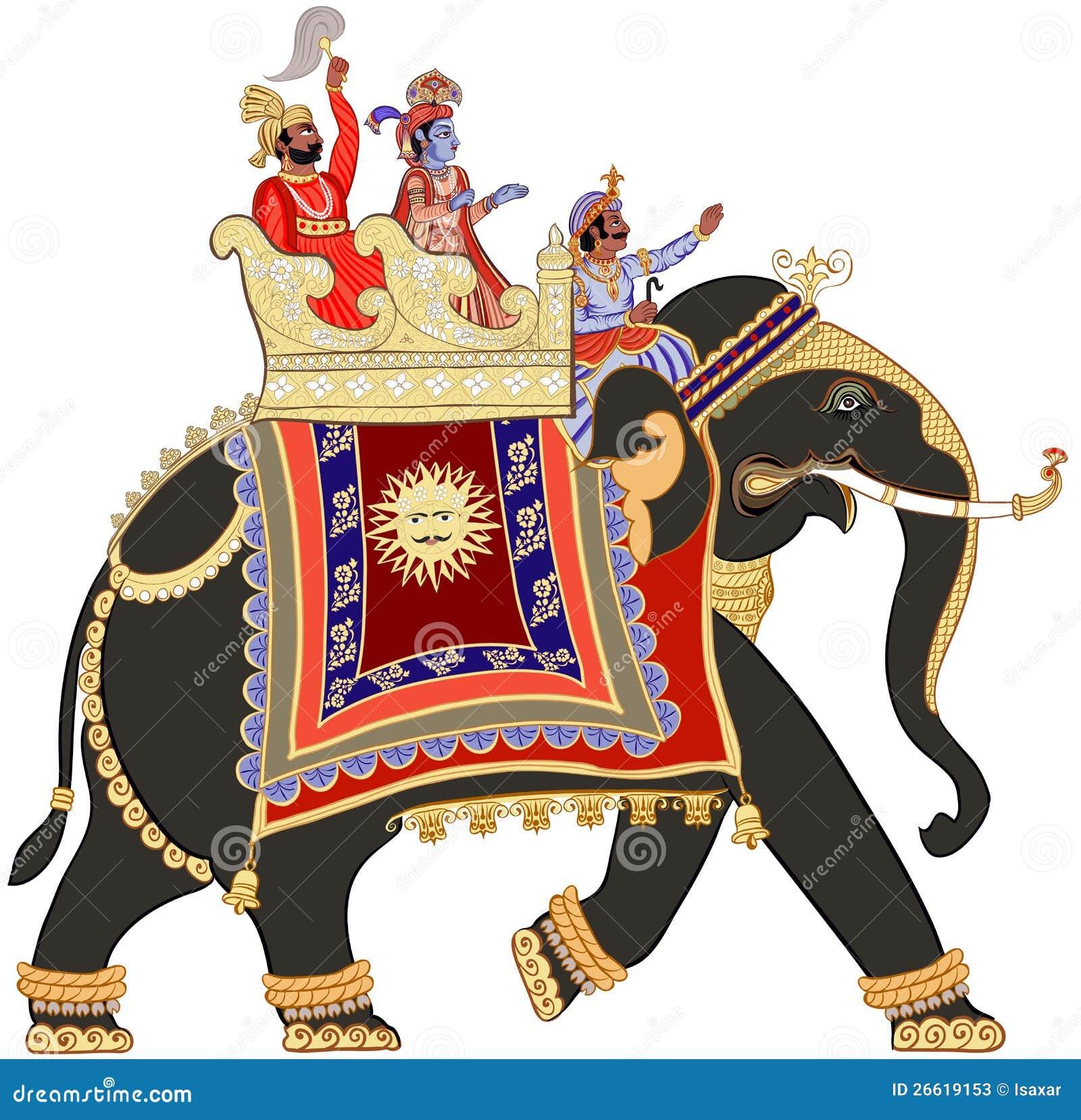 verzierter indischer elefant vektor abbildung