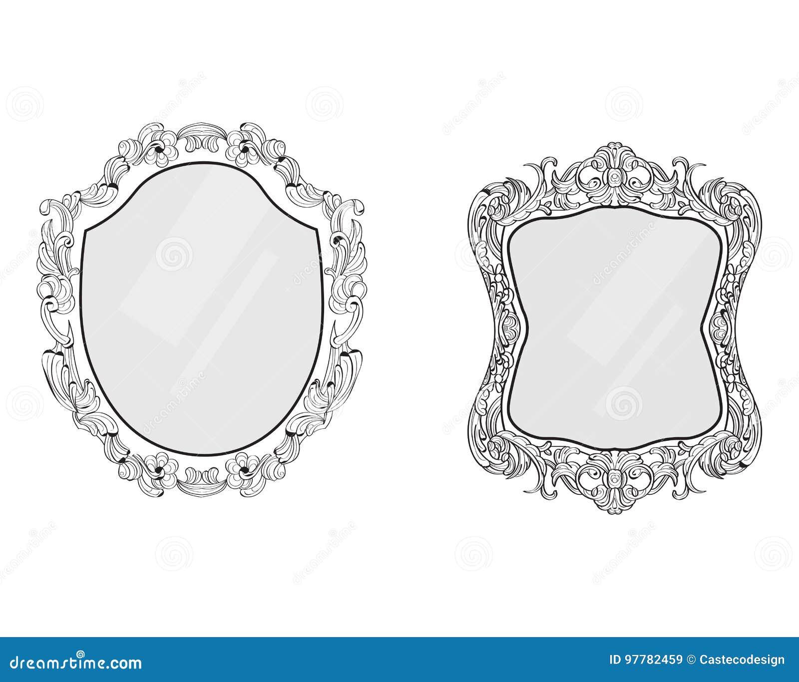Verzierter Spiegel- Oder Fotorahmen Es Kann Für Leistung Der ...