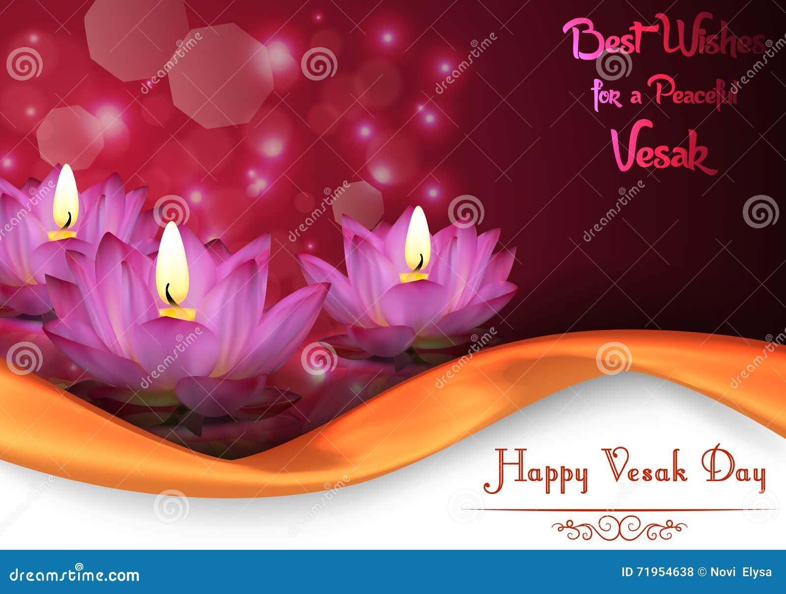 Vesak Day Background Banner Stock Vector Illustration Of Lord