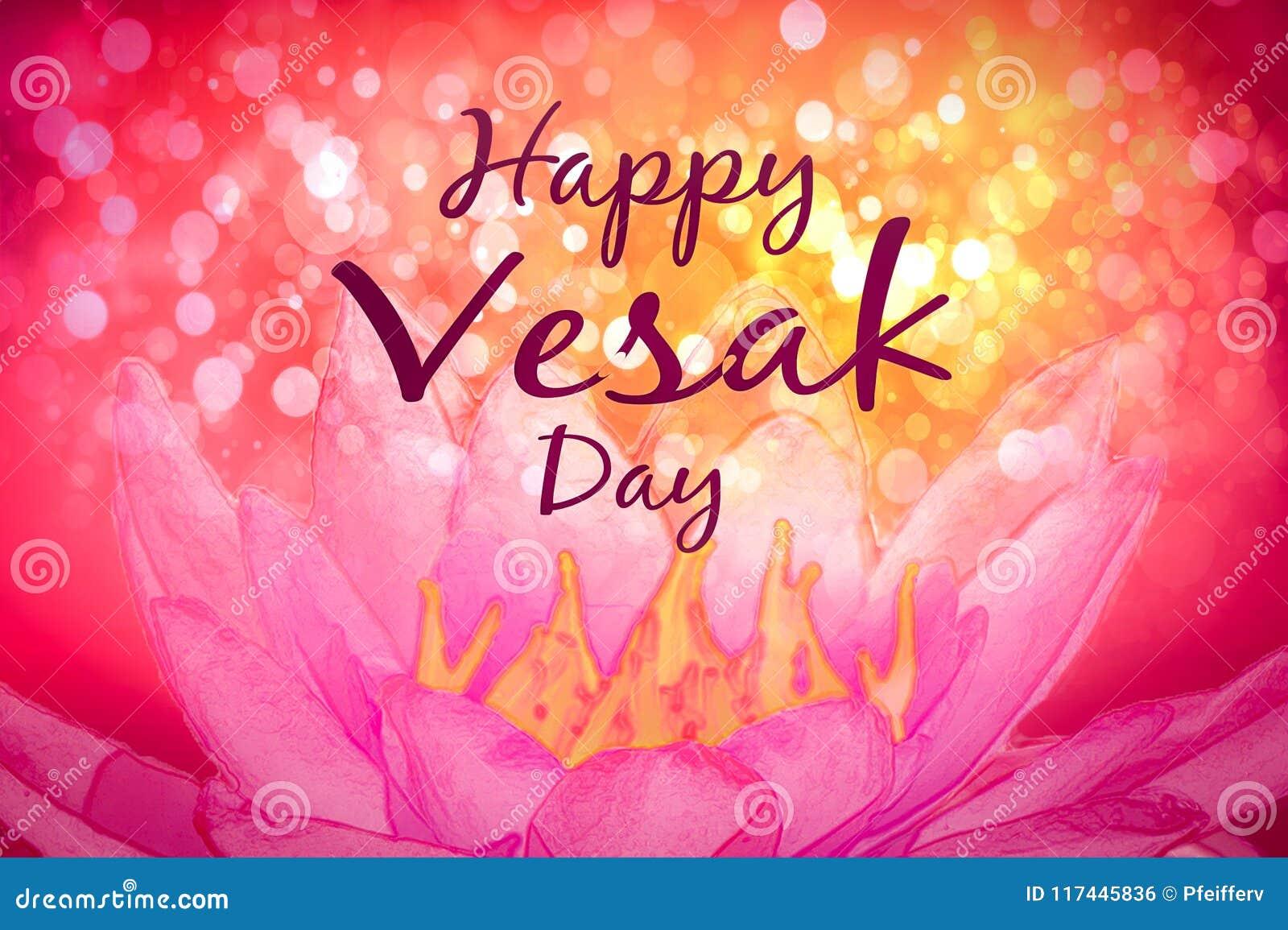 Vesak Day Greeting Card Stock Illustration Illustration Of