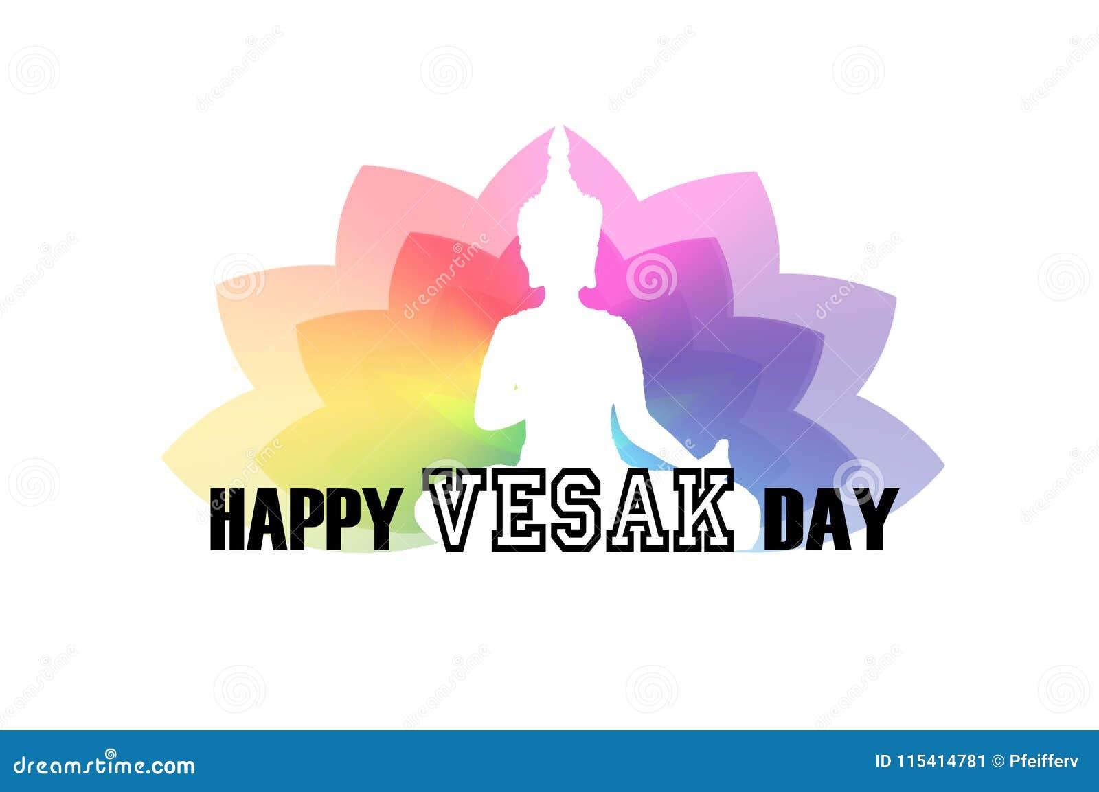 Vesak Day Greeting Card Stock Illustration Illustration Of Malaysia