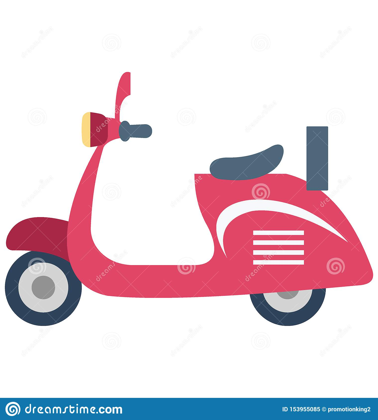 Vespa Color Vector Icon which can easily modify or edit