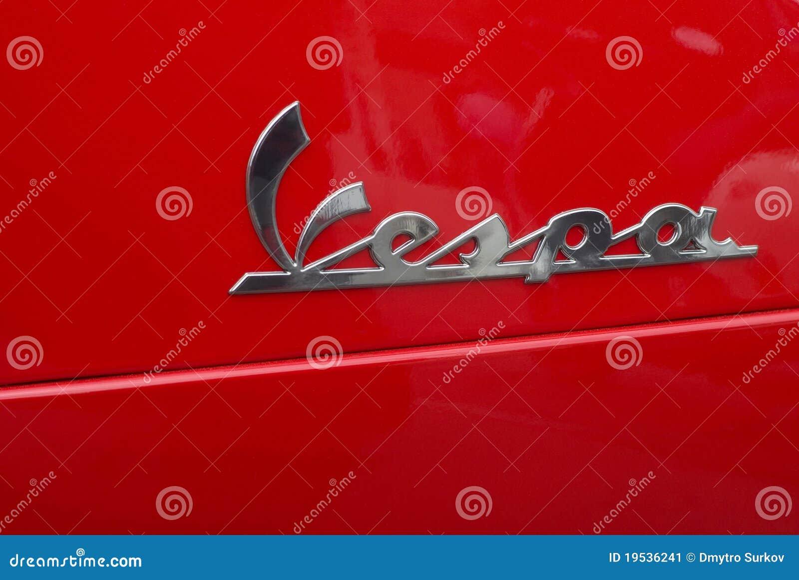 vespa italian scooter logo editorial photo - image: 19536241