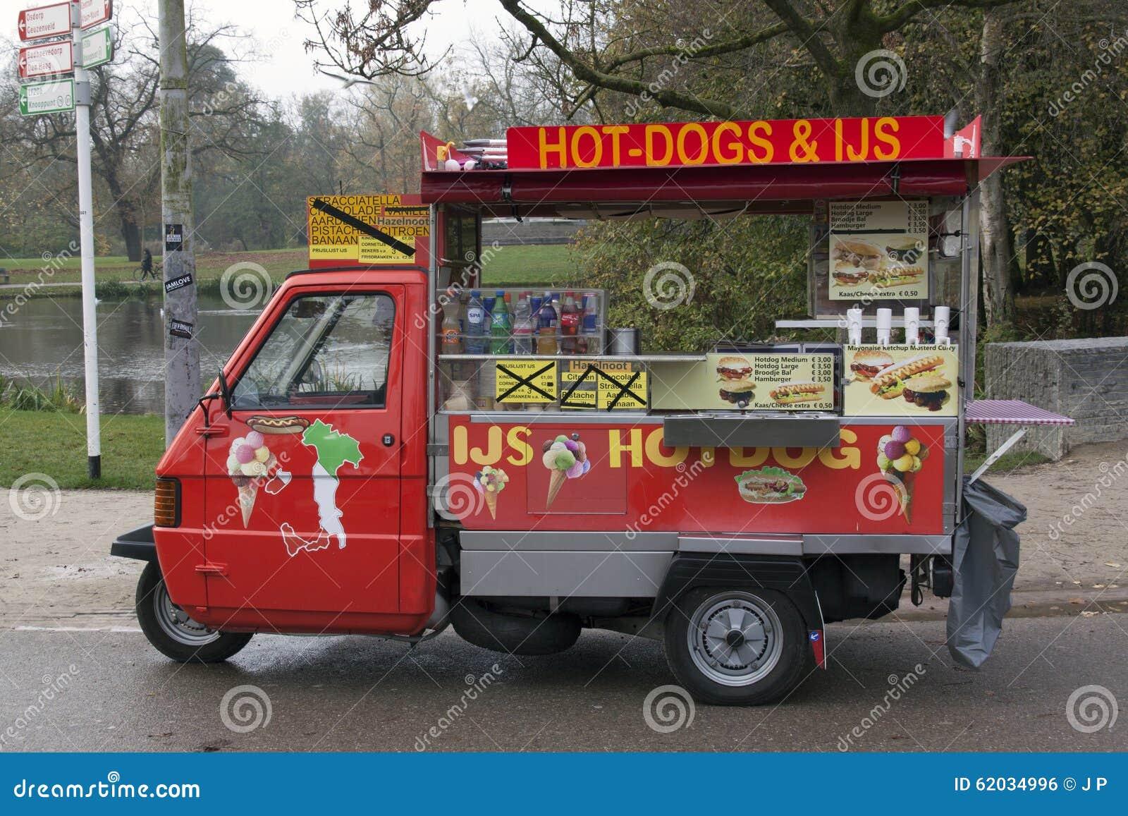 vespa piaggio ape 50 hot dog car editorial photo image. Black Bedroom Furniture Sets. Home Design Ideas