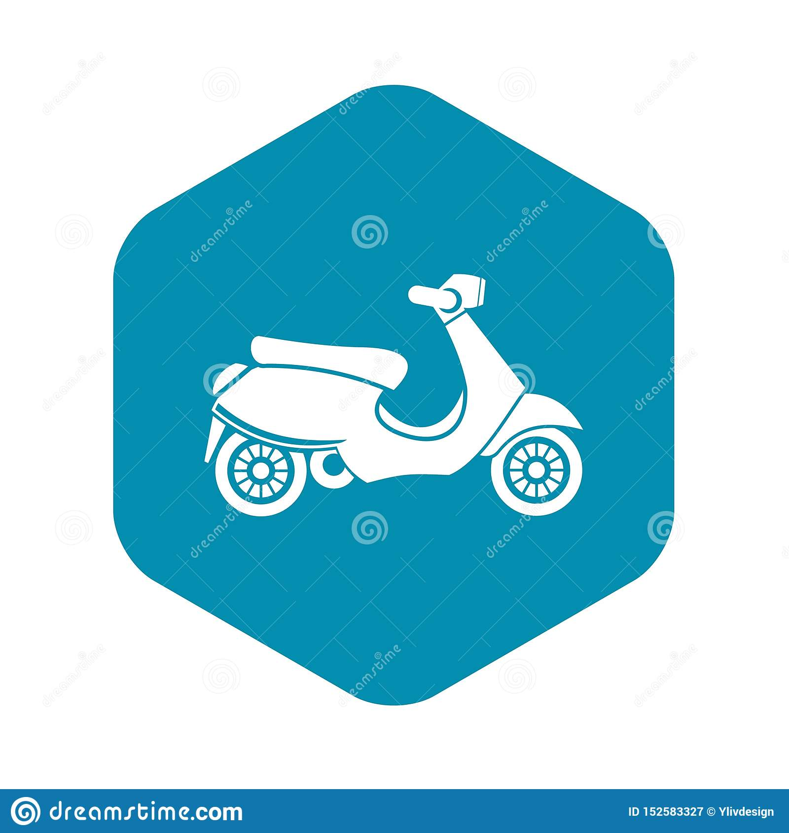 Vespa scooter icon, simple style