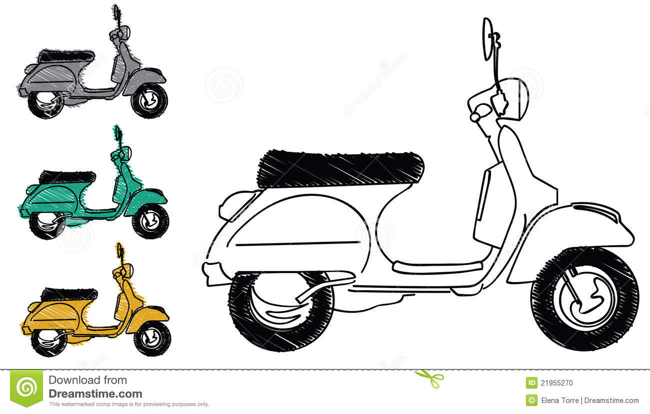 vespa scooter vector stock vector illustration of color 21955270 dreamstime com