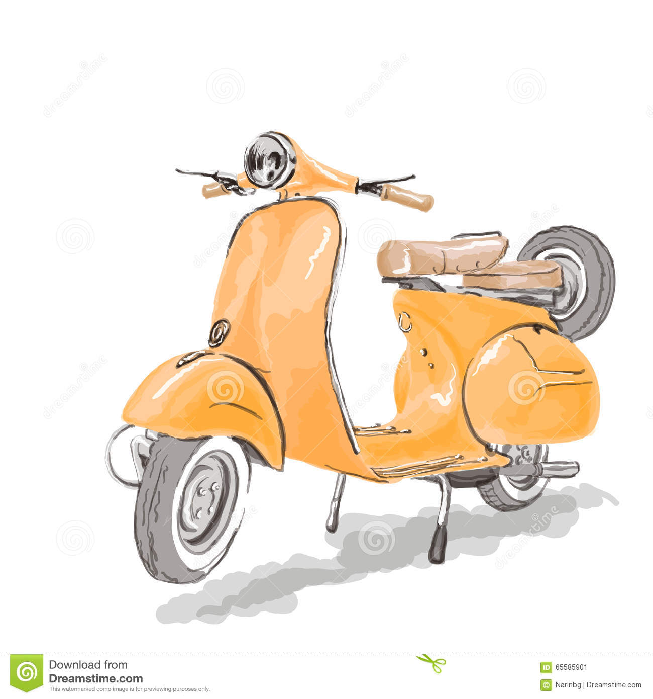 vespa scooter stock vector illustration of vintage. Black Bedroom Furniture Sets. Home Design Ideas