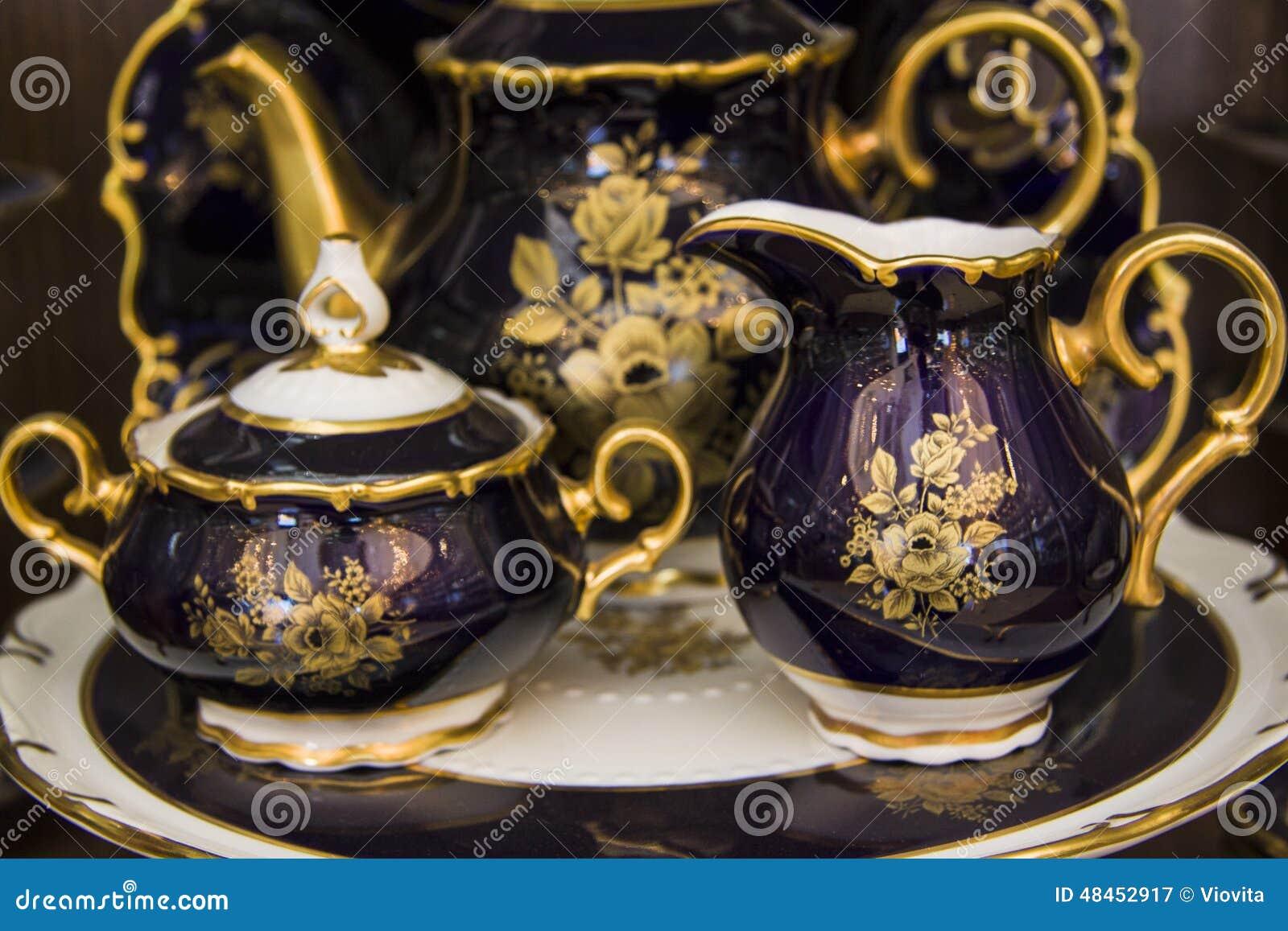 Vessels of beautiful tableware & Vessels Of Beautiful Tableware Stock Image - Image of gift home ...